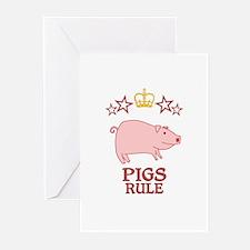Pigs Rule Greeting Cards (Pk of 20)