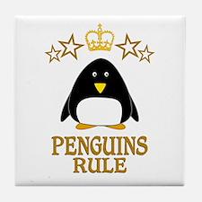 Penguins Rule Tile Coaster
