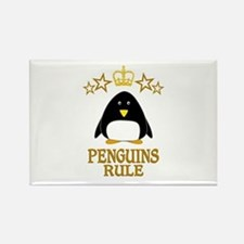 Penguins Rule Rectangle Magnet