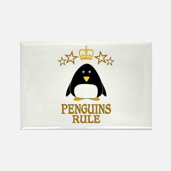 Penguins Rule Rectangle Magnet