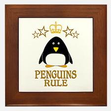 Penguins Rule Framed Tile