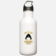 Penguins Rule Water Bottle
