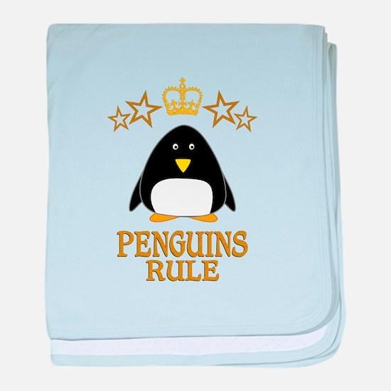 Penguins Rule baby blanket