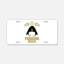 Penguins Rule Aluminum License Plate