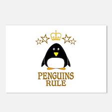 Penguins Rule Postcards (Package of 8)