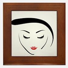 Cute Lipstick Framed Tile