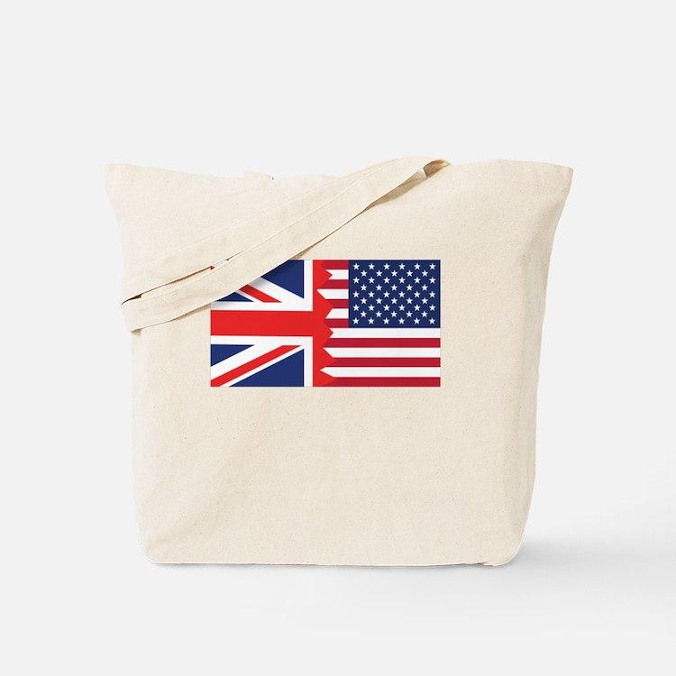 British American Flag Tote Bag