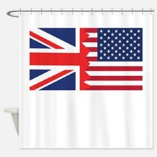 British American Flag Shower Curtain