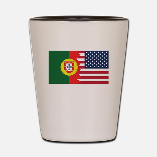 Portuguese American Flag Shot Glass