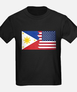 Filipino American Flag T-Shirt
