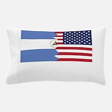 Nicaraguan American Flag Pillow Case