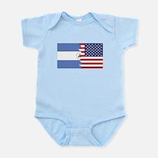 Nicaraguan American Flag Body Suit