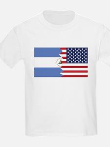 Nicaraguan American Flag T-Shirt