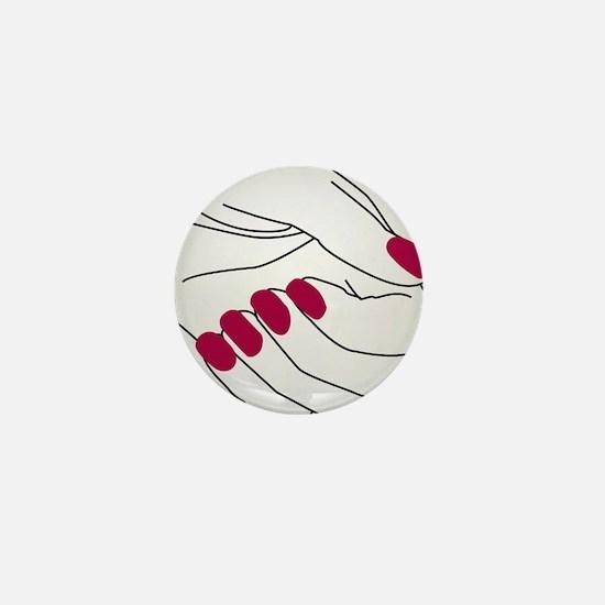 Unique Human hand Mini Button