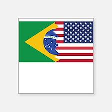 Brazilian American Flag Sticker