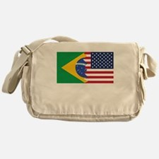 Brazilian American Flag Messenger Bag