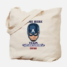 Team Captain America Personalized Tote Bag