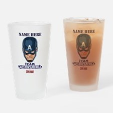 Team Captain America Personalized Drinking Glass