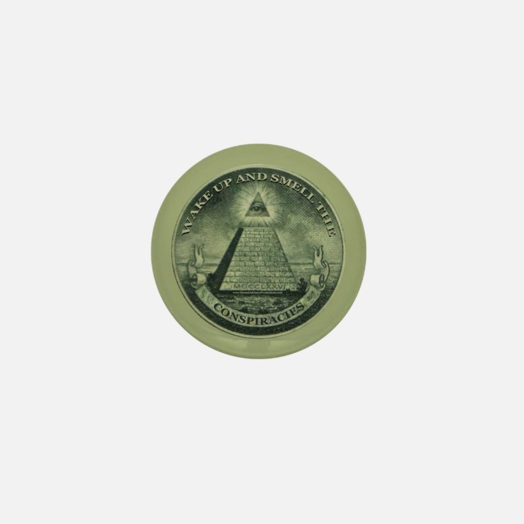 Smell The Conspiracies Mini Button