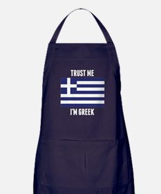Trust Me I'm Greek Apron (dark)