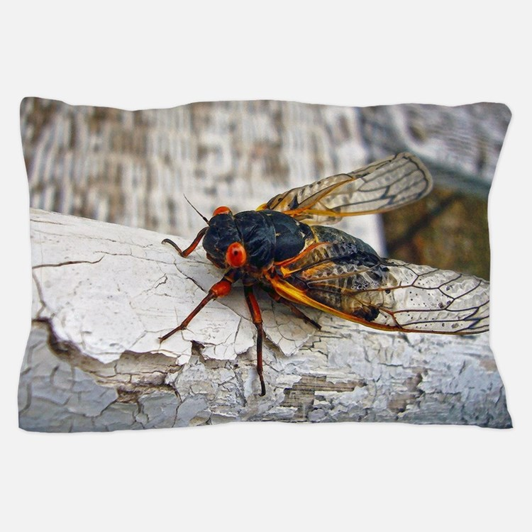 Red Eyed Cicada Pillow Case