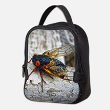 Red Eyed Cicada Neoprene Lunch Bag