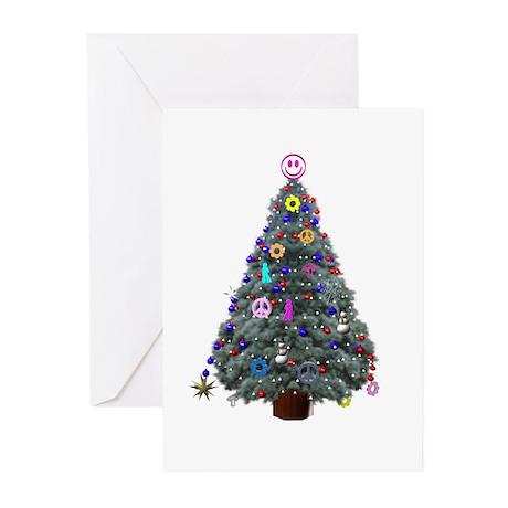 Hippie Christmas Tree Greeting Cards (Pk of 20)