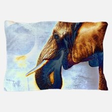 Unique White graphic elephant Pillow Case