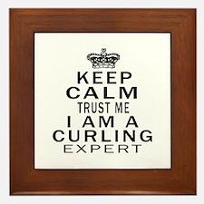 Curling Expert Designs Framed Tile