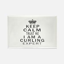Curling Expert Designs Rectangle Magnet