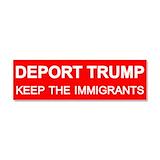 "Deport trump not immigrants magnetic 3"" x 10"""