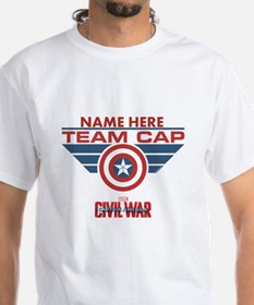 Team Cap Shield Personalized Shirt