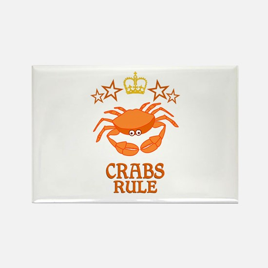 Crabs Rule Rectangle Magnet