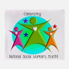 Social Worker's Month Throw Blanket