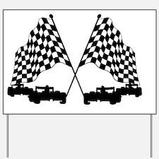 Race Cars Yard Sign