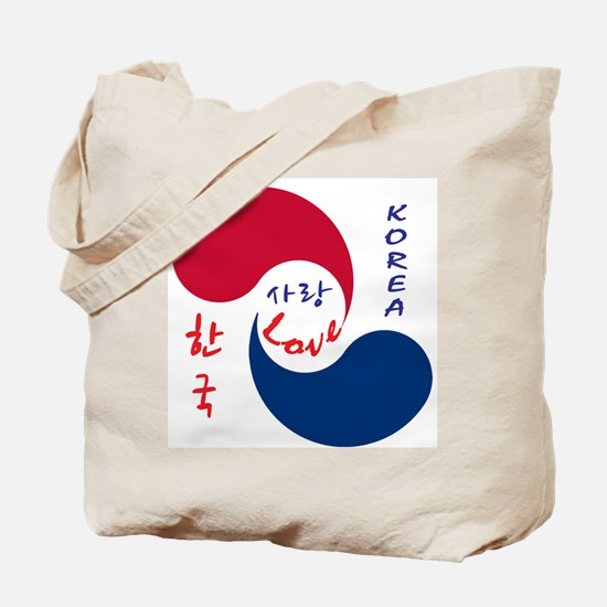 Korea Love Tote Bag