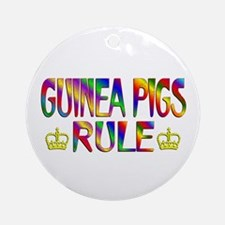 Guinea Pigs Rule Round Ornament