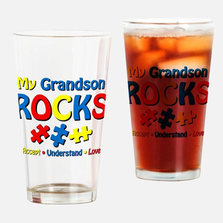 Autistic Grandson Rocks Drinking Glass
