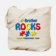 Autistic Brother Rocks Tote Bag
