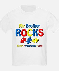 Autistic Brother Rocks T-Shirt