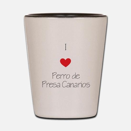 I love Perro de Presa Canarios Shot Glass