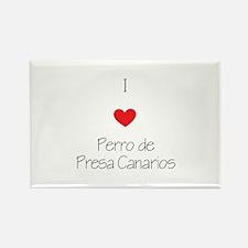 I love Perro de Presa C Rectangle Magnet (10 pack)