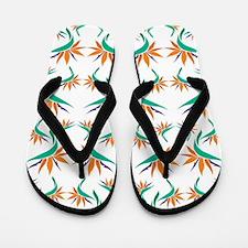 Birds of Paradise Pattern 1 Flip Flops