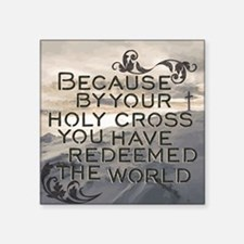Your Holy Cross Sticker