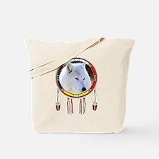 White Wolf Shield Tote Bag