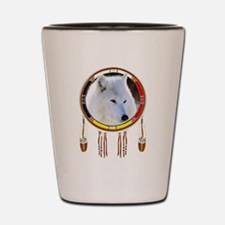 White Wolf Shield Shot Glass