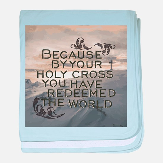 Your Holy Cross baby blanket