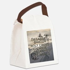 Your Holy Cross Canvas Lunch Bag