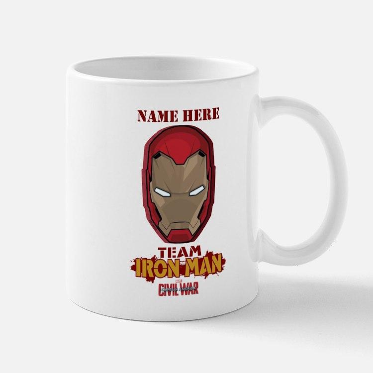 Team Iron Man Helmet Personalized Mug