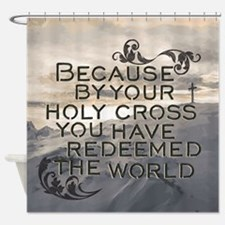 Your Holy Cross Shower Curtain